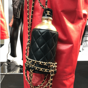 Chanel Black Travel Bottle Minaudiere Bag