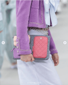 Chanel Blue and Pink Multi-Pocket Pouch Bag