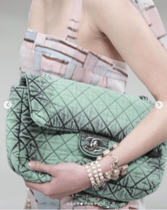 Chanel Light Green Large Flap Bag