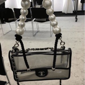 Chanel PVC:Imitation Pearls Flap Bag