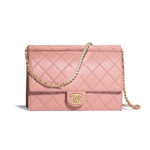 Chanel Pink Large Chic Pearls Flap Bag