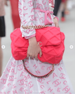 Chanel Red Large Flap Bag