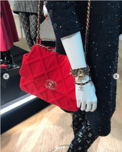 Chanel Red Quilted Flap Bag 2