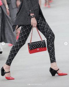 Chanel Red/Black Patent Flap Bag