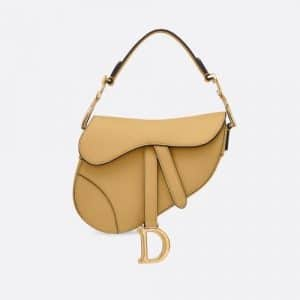 Dior Anise Green Calfskin Mini Saddle Bag