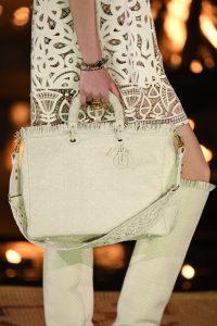 Dior Beige Raffia Lady Dior Bag