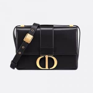 Dior Black Calfskin 30 Montaigne Flap Bag