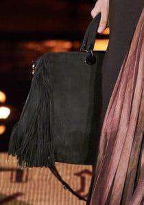 Dior Black Fringed Tote Bag