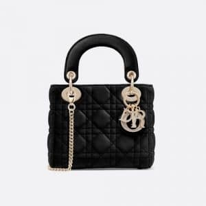 Dior Black Mini Lady Dior Bag