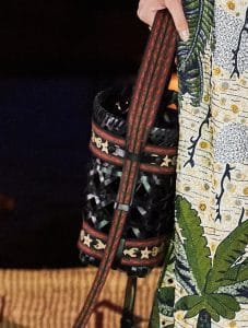 Dior Black Woven Diorodeo Hobo Bag