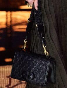 Dior Black Woven Flap Bag