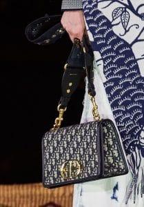 Dior Blue Oblique Canvas Flap Bag