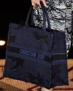Dior Blue Patchwork Book Tote Bag