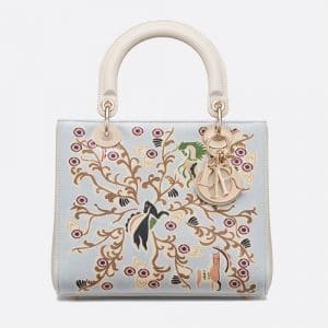 Dior Celestial Blue Fairy Tale Printed Lady Dior Bag