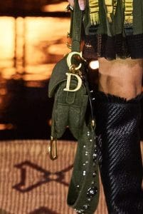 Dior Green Saddle Bag