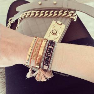 Dior J'adior Woven Bracelets 2
