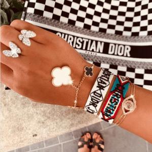 Dior J'adior Woven Bracelets 3