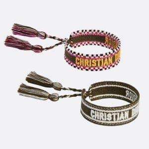 Dior Khaki J'adior Woven Bracelets