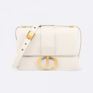 Dior Off-White Calfskin 30 Montaigne Flap Bag