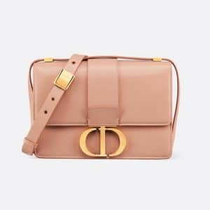 Dior Pale Pink Calfskin 30 Montaigne Flap Bag