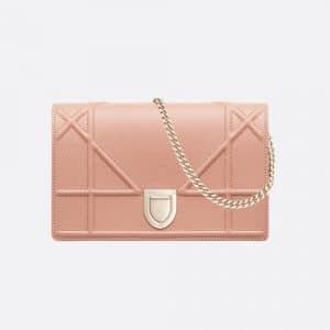 Dior Pale Pink Calfskin Diorama Clutch Bag