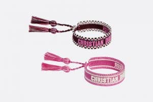 Dior Purple and Pink J'adior Woven Bracelets