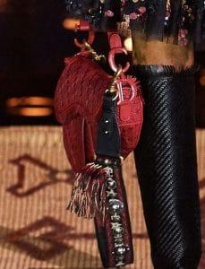 Dior Red Woven Saddle Bag
