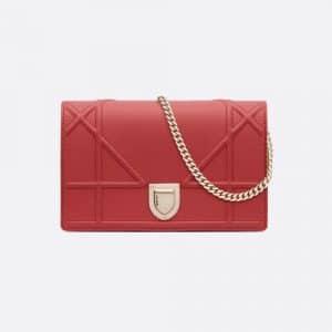 Dior Sienna Calfskin Diorama Clutch Bag