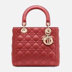 Dior Sienna Lambskin Lady Dior Bag