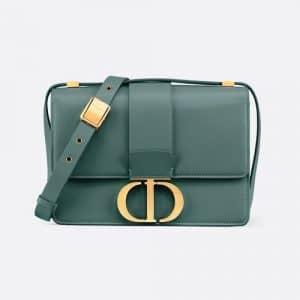 Dior Storm Blue Calfskin 30 Montaigne Flap Bag