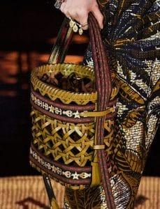 Dior Tan Woven Diorodeo Hobo Bag
