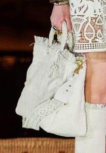 Dior White Raffia Lady Dior Bag