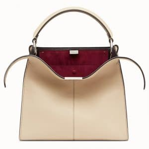 Fendi Beige Peekaboo X-Lite Regular Bag