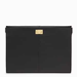 Fendi Black Peekaboo Clutch Wallet
