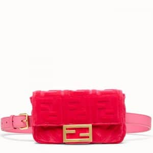 Fendi Fuchsia Velvet Baguette Belt Bag