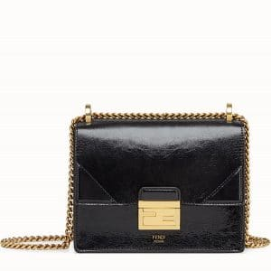 Fendi Glossy Black Mini Kan U Bag