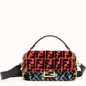 Fendi Multicolor Mink Baguette Bag