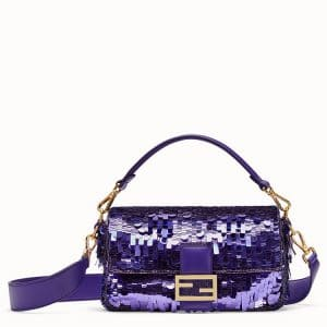 Fendi Purple Sequined Baguette Bag