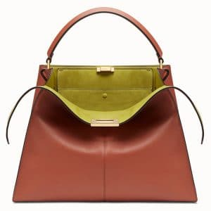 Fendi Rust Red Peekaboo X-Lite Bag