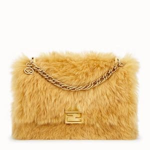 Fendi Yellow Sheepskin Kan U Bag