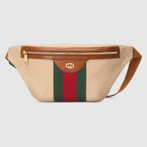 Gucci Beige Vintage Canvas Belt Bag