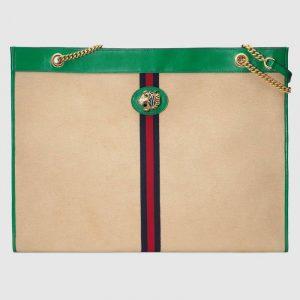 Gucci Beige Vintage Canvas Rajah Maxi Tote Bag