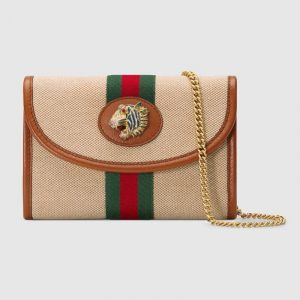 Gucci Beige Vintage Canvas Rajah Mini Bag