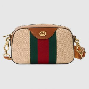 Gucci Beige Vintage Canvas Shoulder Bag