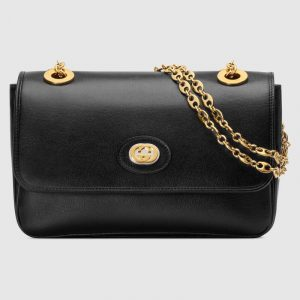 Gucci Black Leather Small Shoulder Bag