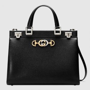 Gucci Black Zumi Medium Top Handle Bag