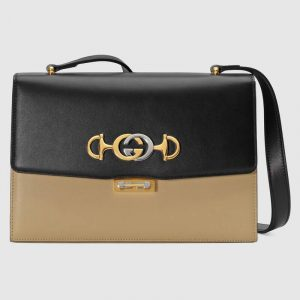 Gucci Black/Beige Zumi Small Shoulder Bag