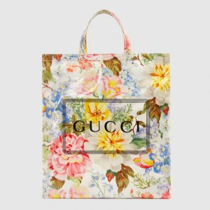 Gucci Floral Print Medium Tote Bag