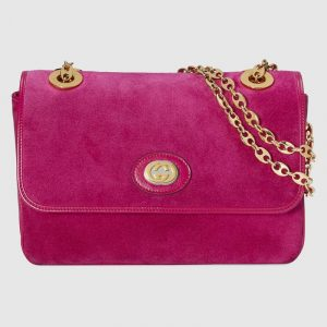Gucci Fuchsia Suede Small Shoulder Bag