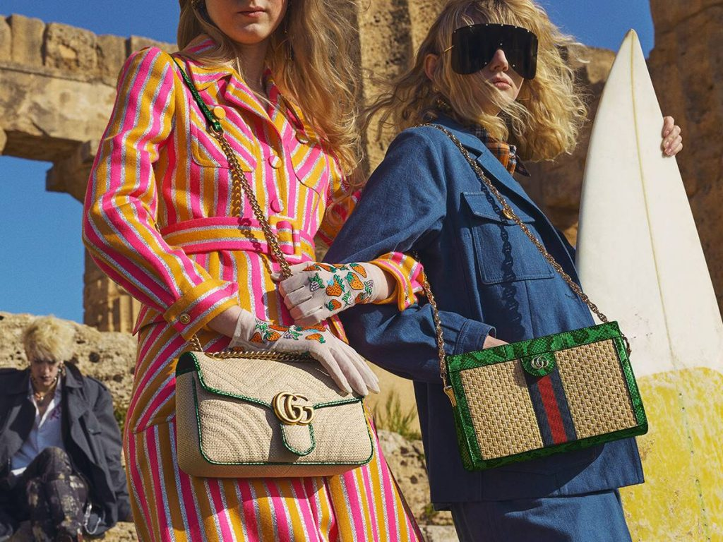bde006dc3 Gucci Pre-Fall 2019 Bag Collection Features Raffia and Straw Bags
